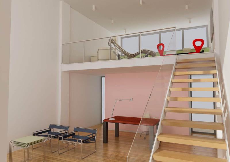 Loft simple interior
