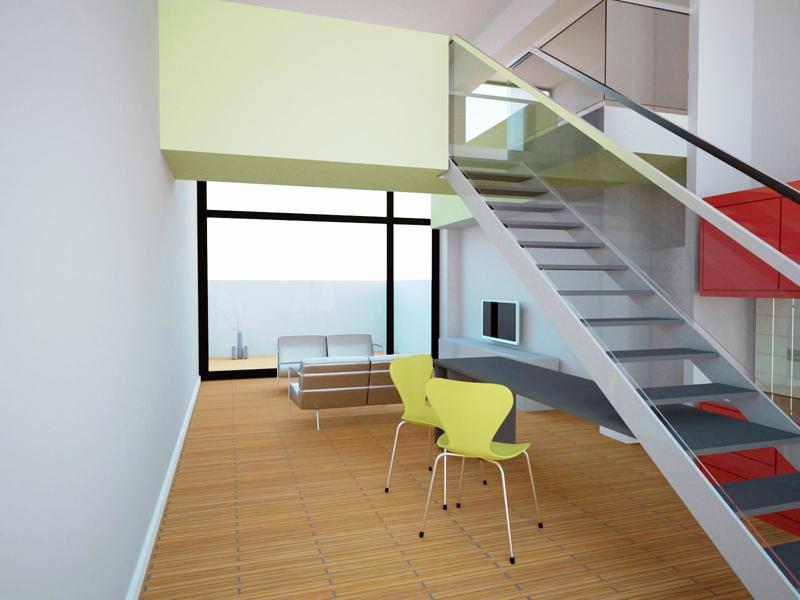 Interior vivienda tipo