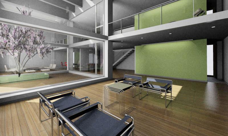 Loft triple interior